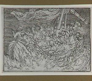 Slapende Christus tijdens de storm op het meer van Galilea (Mattheüs 8:23-25)