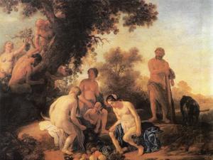 Hercules na zijn overwinning op Achelaos
