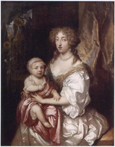 Portret van een vrouw met haar kind