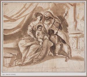 Maria met Kind, de heilige Elisabeth en het kind Johannes de Doper