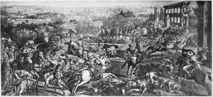 De strijd om veevoer tijdens het beleg van Goleta bij Tunis