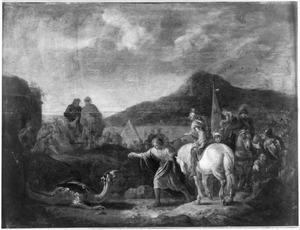 Daniel doodt de draak van de Babyloniërs door hem te voederen (Daniel 14:26)