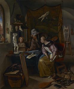 Tekenles in een interieur