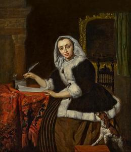 Briefschrijvende vrouw
