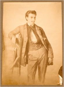 Portret van Johan Daniël Koelman (1831-1857), reproduktie van een aquarel door I. Johnson