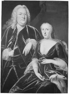 Dubbelportret van Frans Jan van Heeckeren (1694-1767) en Transisalania Charlotta Juliana Agnes Adelheid van Rechteren (1704-1757)