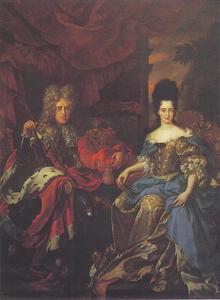 Dubbelportret van keurvorst Johann Wilhelm van de Palts en Anna Maria Luisa de'Medici