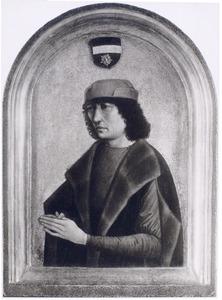 Portret van een man met gevouwen handen, mogelijk een lid van de familie Busleyden uit Brussel