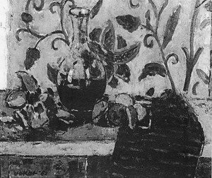 Stilleven met wijnkaraf