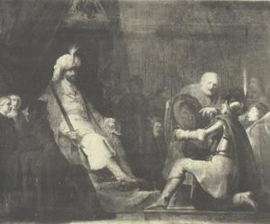 Saul laat David de wapenen aanreiken om Goliat te verslaan (1 Samuel 17:38)