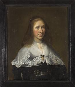 Portret van een vrouw, mogelijk Alegunda van Juckema (1612-1703)