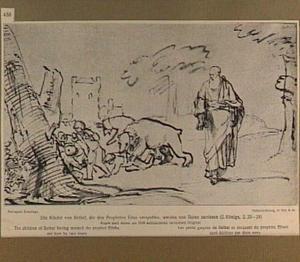 Twee beren verscheuren de kinderen van Bethel nadat deze de profeet Elisa hebben bespot (2 Koningen 2:23-24)