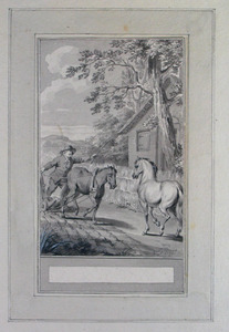 Illustratie bij 'Het koetspaard' uit de Fabelen en vertelsels van F.C. Gellert