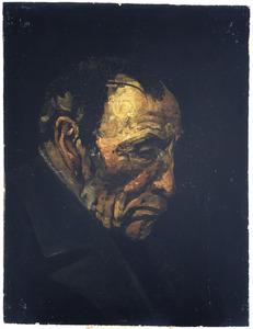 Portret van een oude man met donker haar
