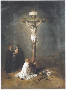 Christus aan het kruis met Maria Magdalena en een onbekend donorpaar