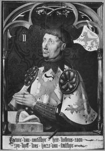 Portret van Hendrick II van Naaldwijk (ca. 1305-1349), Erfmaarschalk van Holland