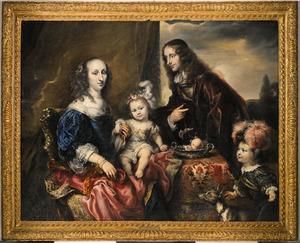 Portret van een familie (voorheen bekend als mogelijk kolonel John Hutchinson en zijn familie)