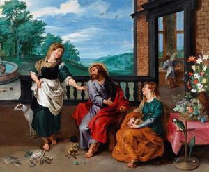 Christus in het huis van Maria en Martha (Lucas 10: 38-42)