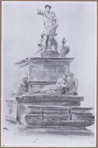 Monumentale fontein voor een Romeinse veldheer