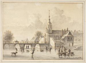 Amsterdam, ijsvermaak bij de Haarlemmerpoort