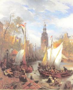 In de haven van Amserdam