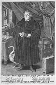 Portret van Maarten Luther (1483-1546)