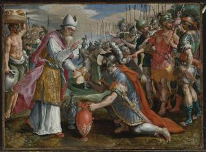 De ontmoeting tussen Abraham en Melchisedek (Genesis 14:19)