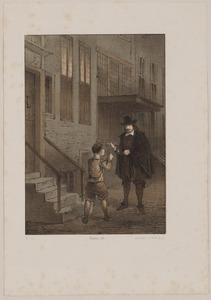 Jan van der Heyden (1637-1712) voor zijn huis in de Koestraat te Amsterdam