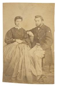Portret van Johannes Pieter van Woerkom (1841-1935) en Theresia Maria Ida Donkersloot (1848-1915)