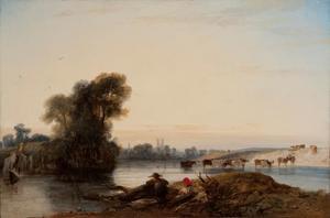 Gezicht op de Seine bij Manted