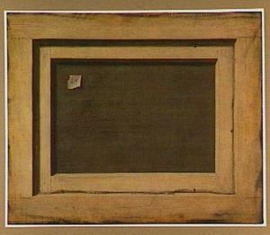 Trompe-l'oeil van de achterkant van een schilderij