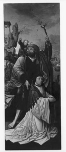 De H. Christoforus met een stichter