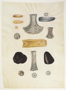 Studie van donderstenen en prehistorische stenen gereedschappen