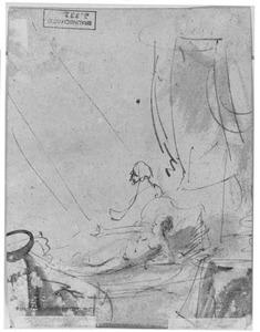 Danaë ontvangt Jupiter in de gedaante van een regen van goud (Ovidius, Metamorphosen 4:611)