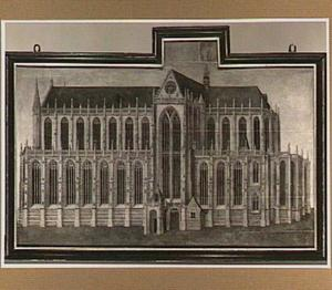 Gezicht op de Nieuwe Kerk te Amsterdam