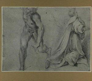 Studie van een naakt man en twee studies van een monnik