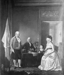 Portret van de familie van Joannes Hartevelt (1762-1824) en Maria Cornelia van den Bergh (1763-1837)