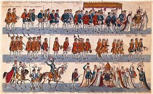 WEST's Grand Procession in the CORONATION, as performed at the THEATRE ROYAL, Plate 6