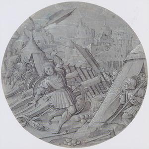 Belegering van een stad; mogelijk de dood van de hertog van Salisbury te Orleans in 1428