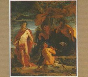 De wedstrijd tussen Apollo en Marsyas en bestraffing van Midas
