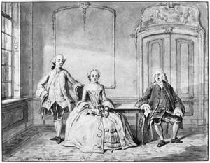 Portret van de familie van Cornelis van den Broek (....-....)
