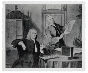 Portret van de verzamelaars Jan Bisschop (1680/'81-1771) en Pieter Bisschop (ca. 1690-1758)