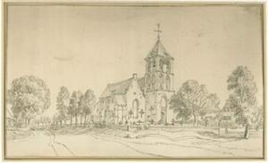 St. Bonifatiuskerk in het dorp Niel bij Kranenburg (Duitsland)