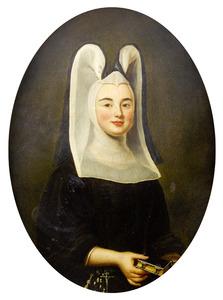 Portret van een vrouw als stiftsdame