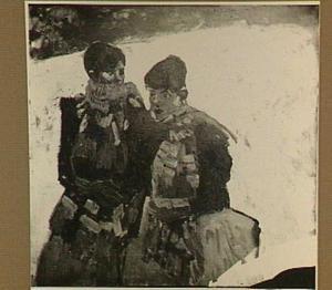 Meiden in de sneeuw