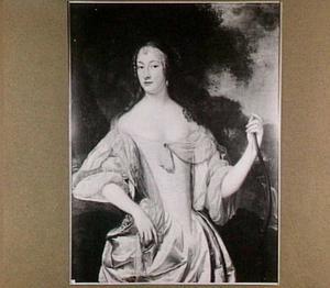 Portret van een vrouw met boog, wellicht voorstellende Albertina Agnes, prinses van Nassau-Dietz