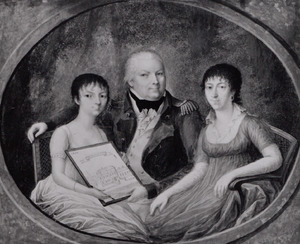 Portret van Anne Willem Carel von Heiden Hompesch (1755-1807), Isabella Carolina Sophia Wilhelmina von Weitolshausen gen. Schrautenbach (1767-1850) en Anna Sophie Dorothee van Heiden Hompesch (1789-1869)