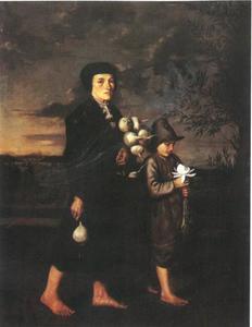 Schwabische boerin met kind