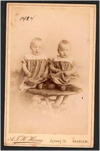 Portret van twee onbekende kinderen