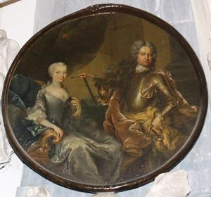 Dubbelportret van Ernst Wilhelm von Salisch (1649-1711) en Anna Sophie von Kospoth (1669-1746)